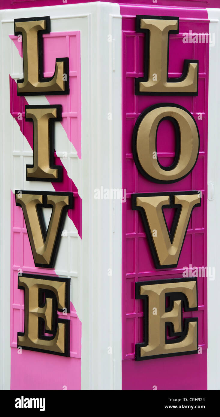 BT Artbox 'Jubilee' . Live Love. Baker Street. London - Stock Image