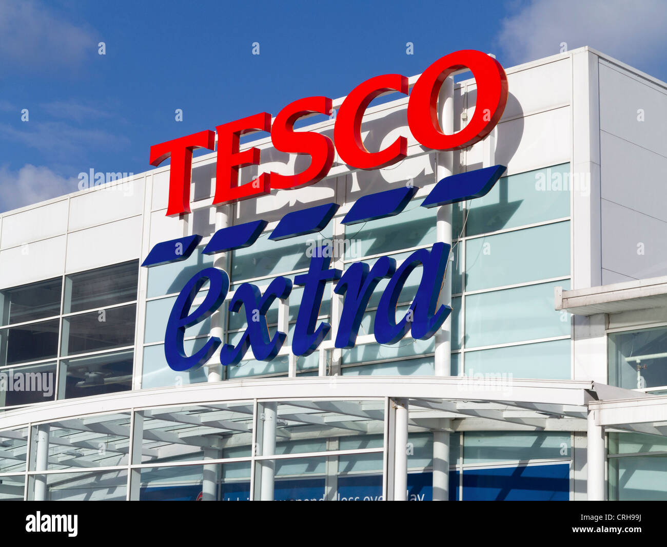 Tesco Extra store sign - Stock Image