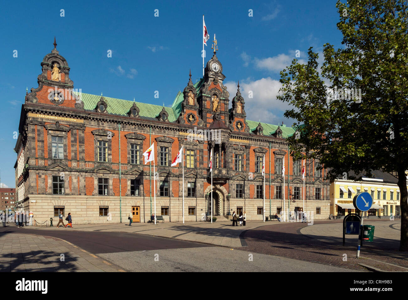 The Rathaus, City Hall at Malmo, Sweden - Stock Image