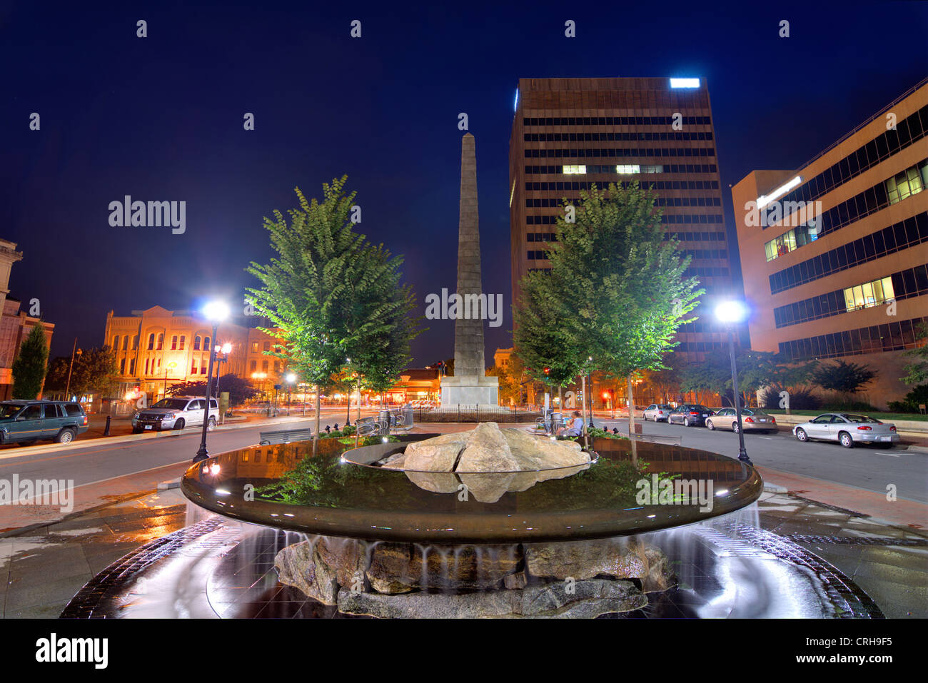 Pack Square in downtown Asheville, North Carolina, USA - Stock Image