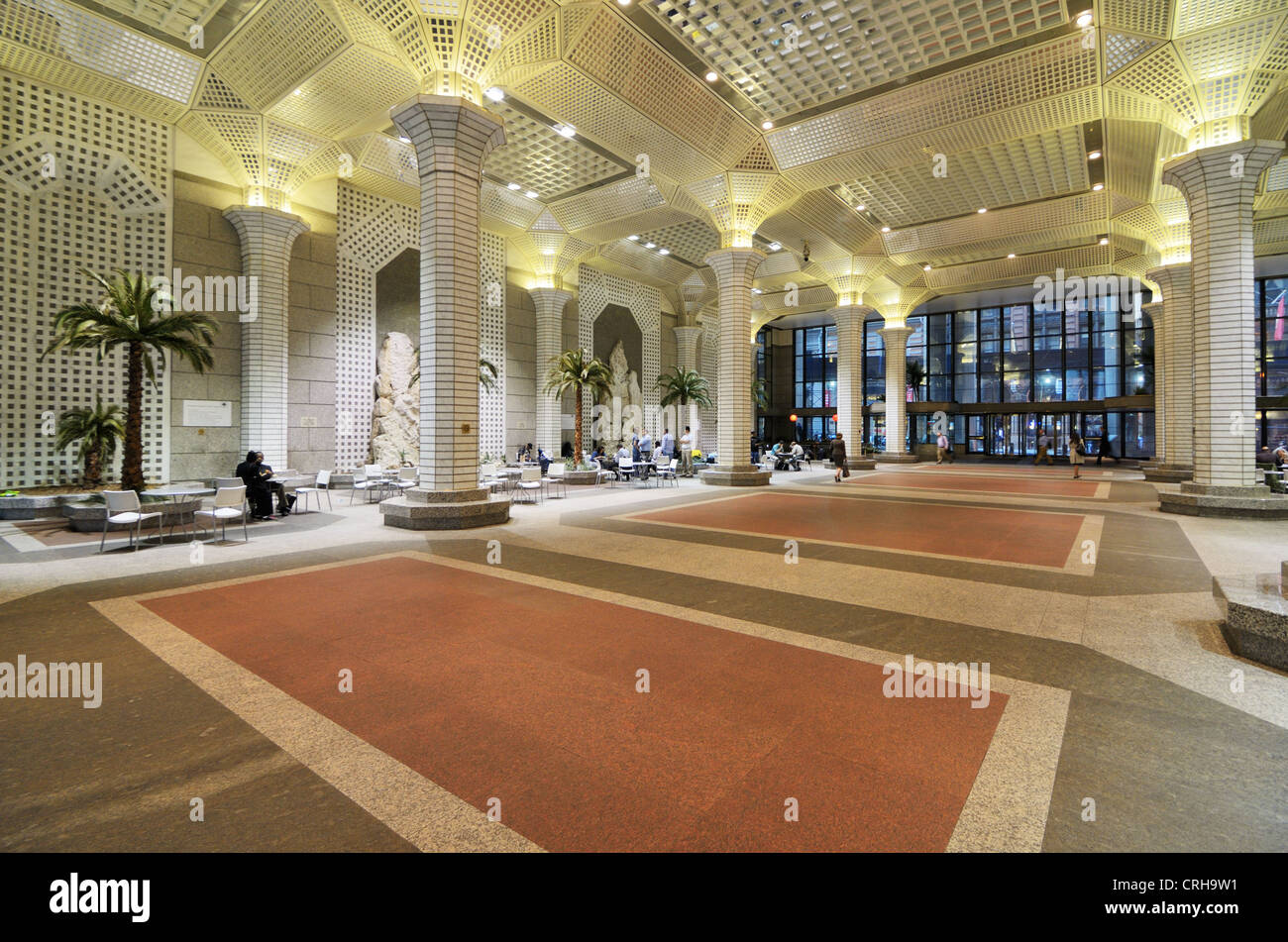 60 Wall St Atrium in New York City. - Stock Image