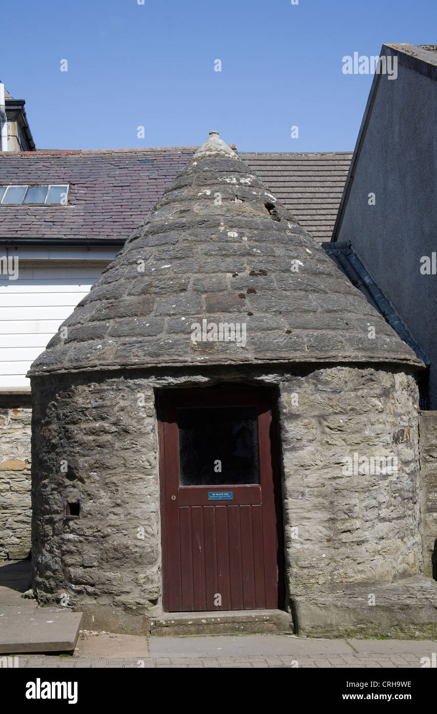 Thurso Caithness North Scotland UK Meadow well a small circular stone well house with conical stone roof built 1818 - Stock Image