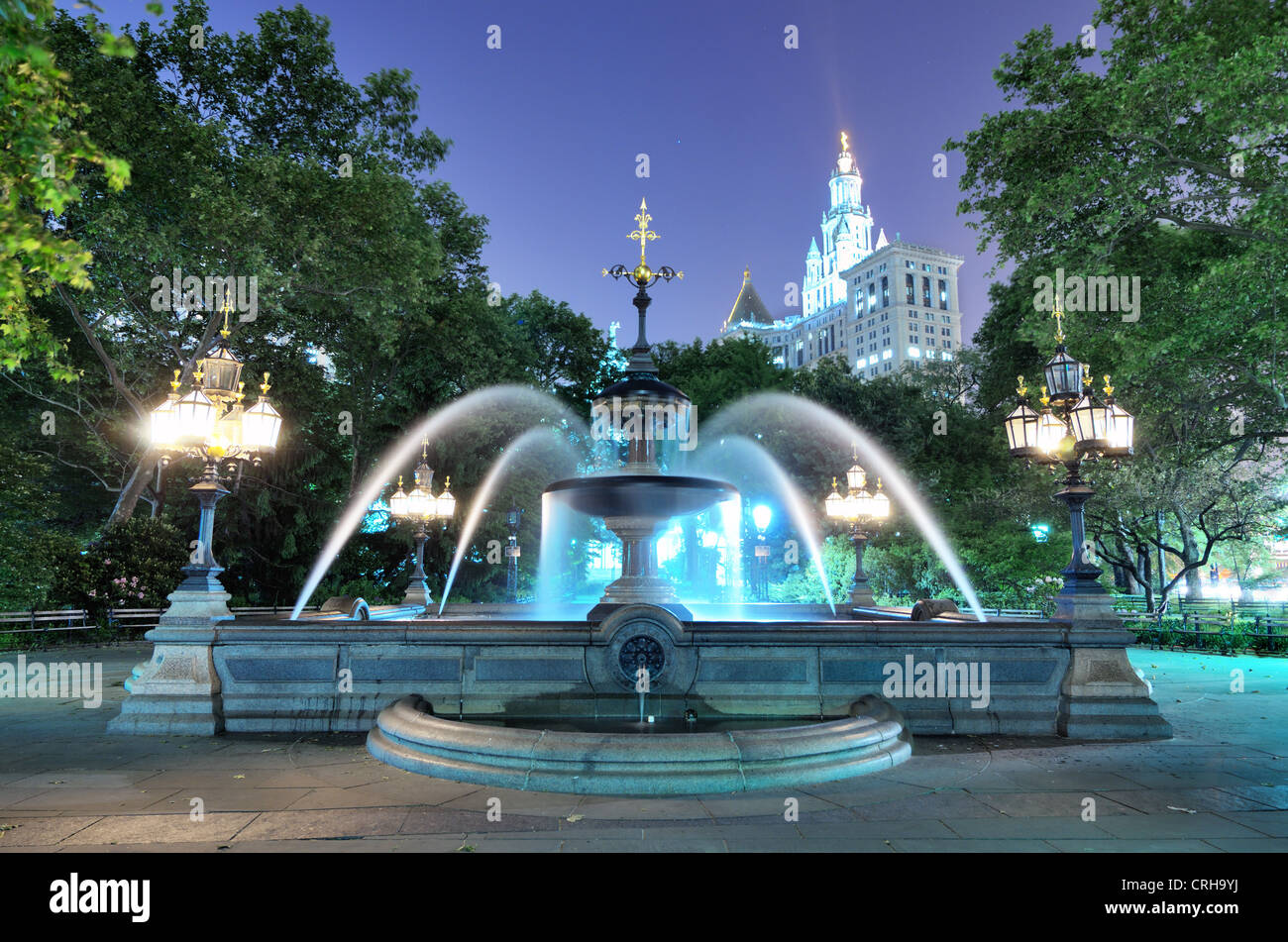 City Hall Park in New York City - Stock Image