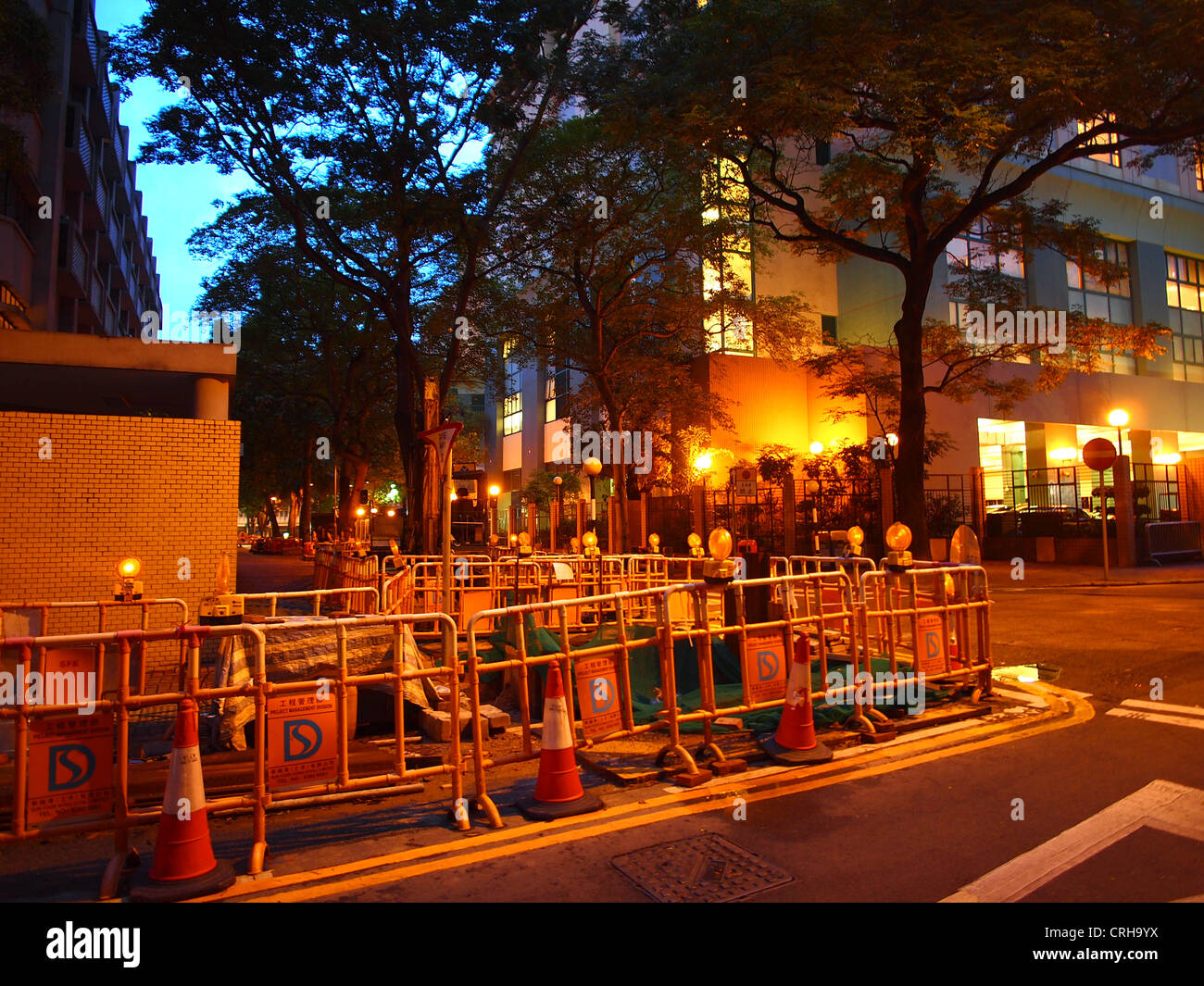 Urban sense at night - Stock Image