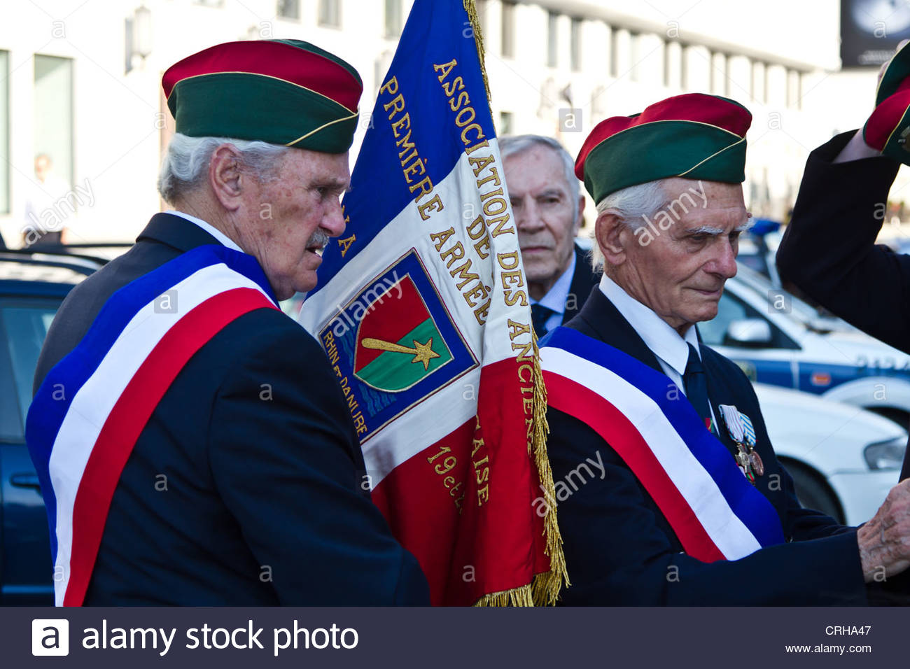 French Veterans in Warsaw, Poland - Stock Image