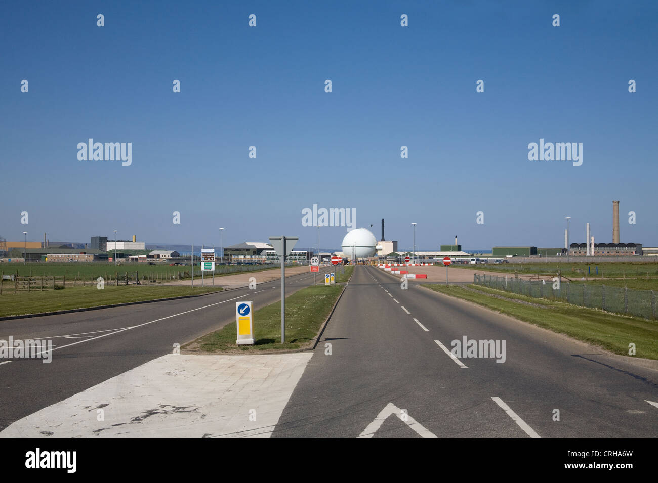 Caithness North Scotland Dounreay nuclear Power station with its atomic reactor - Stock Image