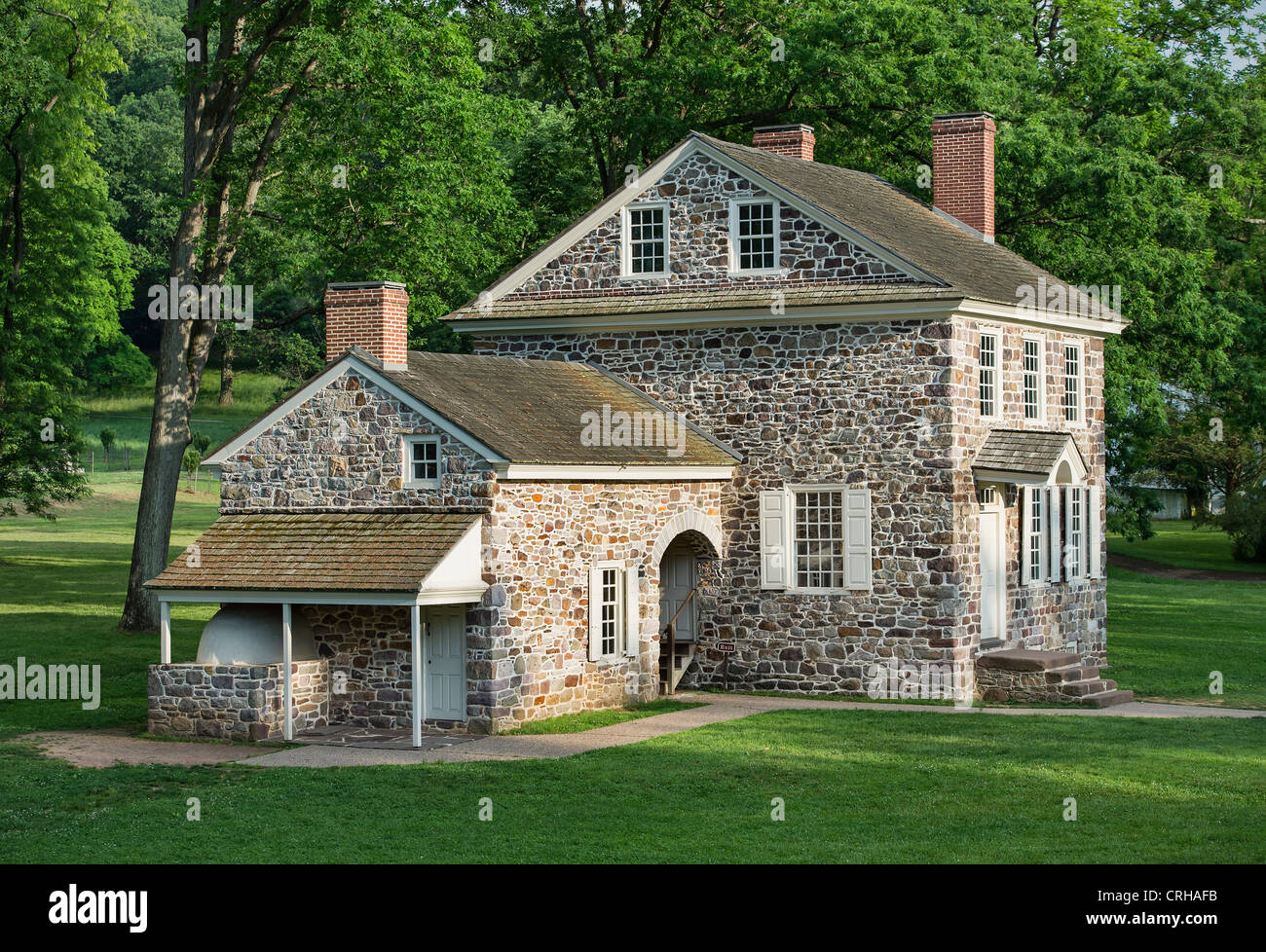 Washington's Headquarters at Valley Forge, Pennsylvania, USA - Stock Image
