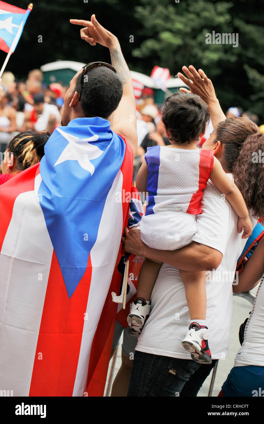The annual Puerto Rican Day Parade in New York City - Stock Image