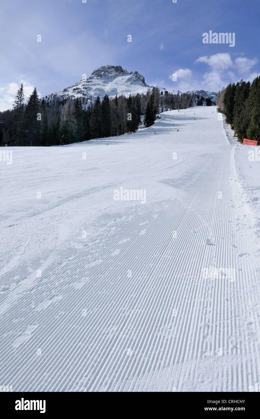 Pra di tori ski-run, Costalunga pass - Stock Image