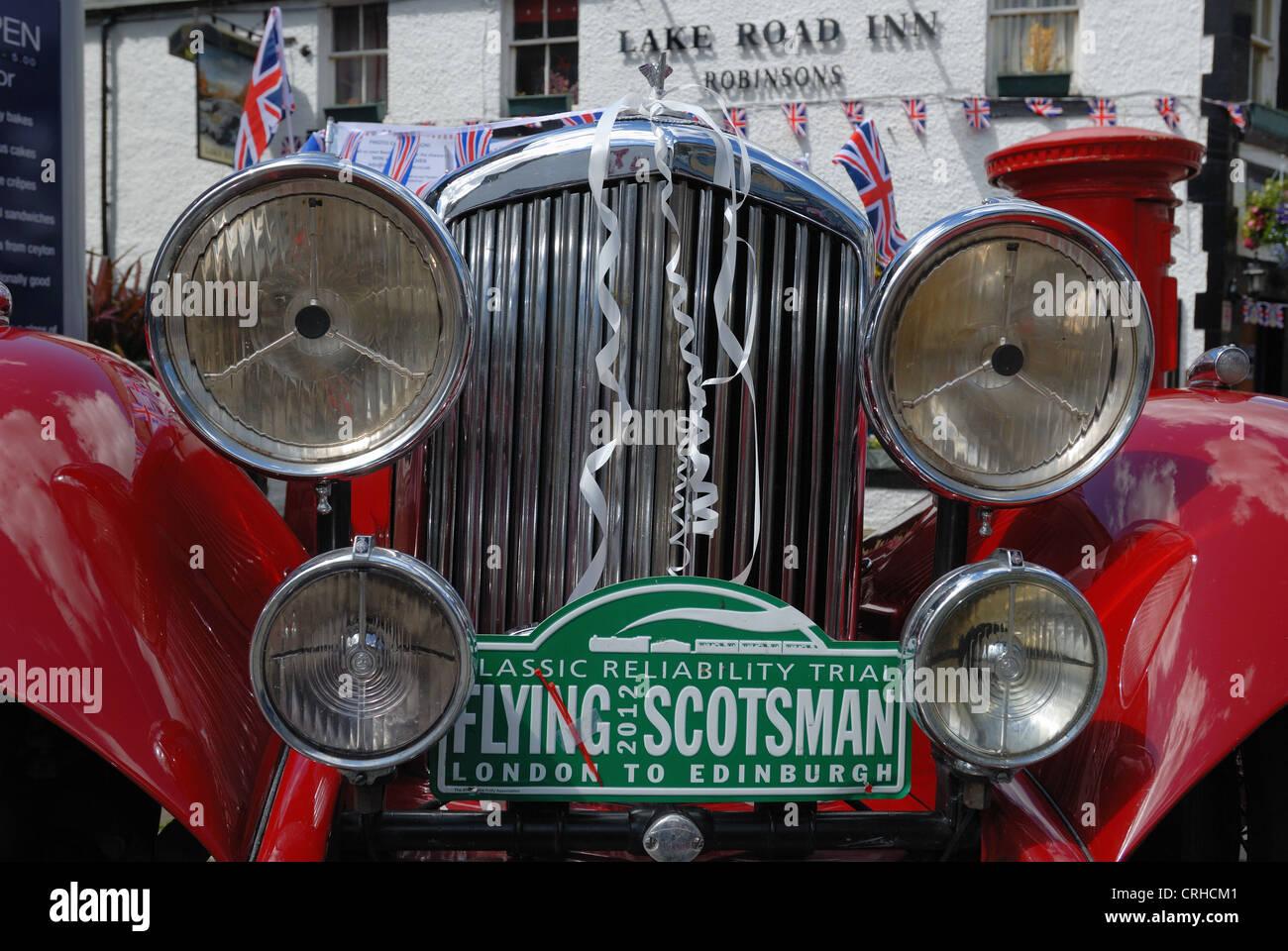 Old vintage Bentley motor car - Stock Image