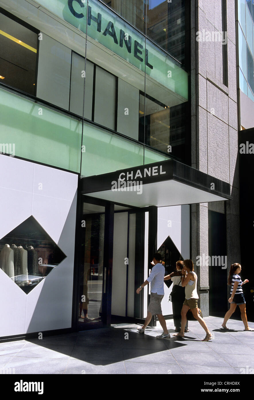 0b76a12b336 New York City People Entering and Leaving the Chanel Store on 57th Street  Midtown Manhattan USA