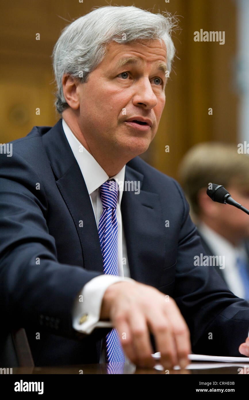 Jamie Dimon, chairman of the board, president and CEO of JPMorgan Chase & Co. Stock Photo