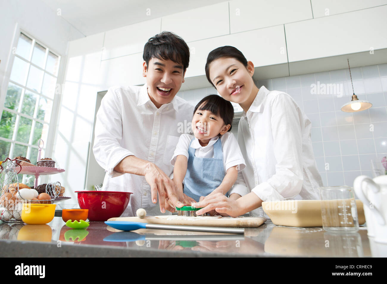 Happy family cooking in the kitchen Stock Photo: 48942329 - Alamy