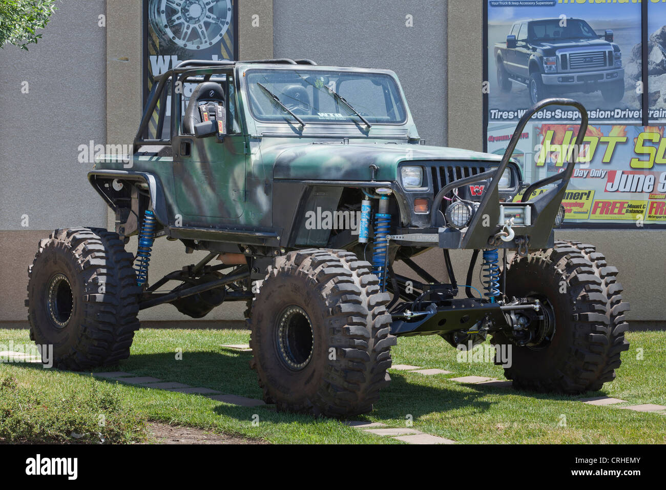 Off-road customized jeep - Stock Image