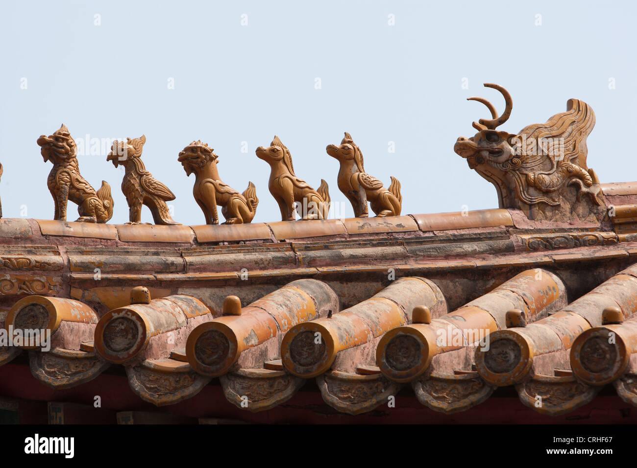 Lama Temple in Yonghegong Dajie, in Beijing, China - Stock Image