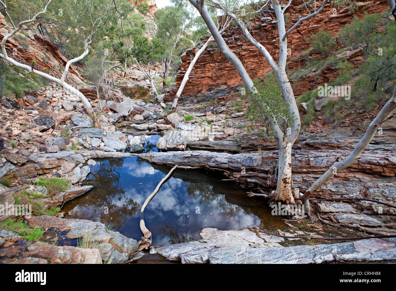 Gorge at Serpentine Chalet Dam in the West MacDonnell Ranges - Stock Image