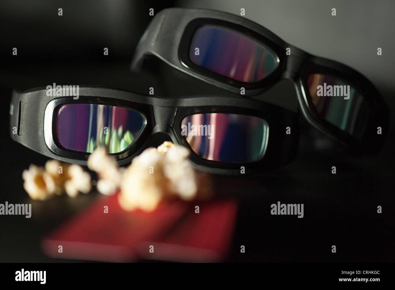 3-D glasses - Stock Image