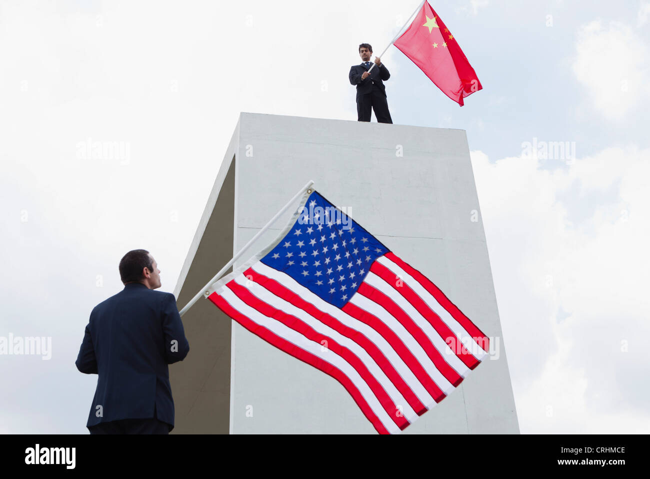 China emerges as powerful economic rival to the United States - Stock Image