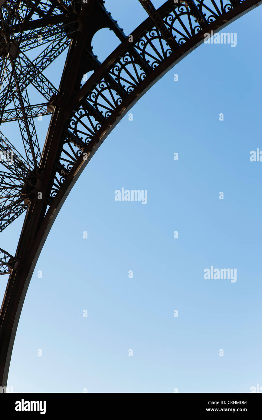 Arch of Eiffel Tower, Paris, France - Stock Image