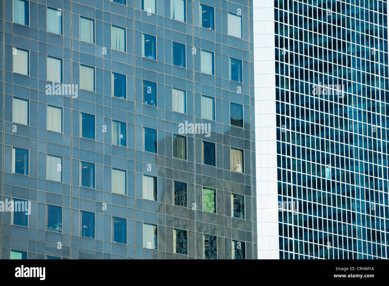 Modern building facades, full frame - Stock Image
