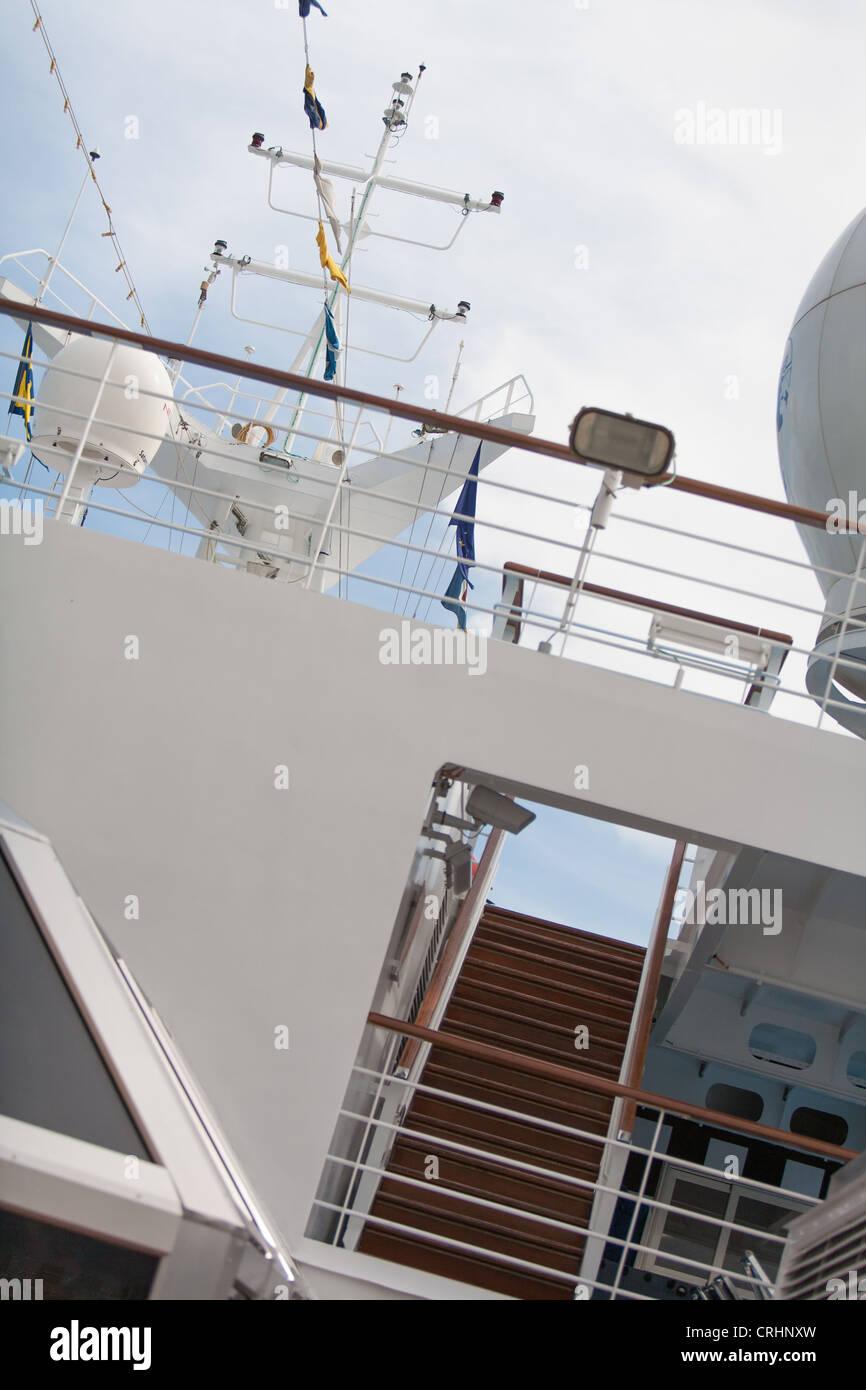 Costa Concordia decks & superstructure - Stock Image
