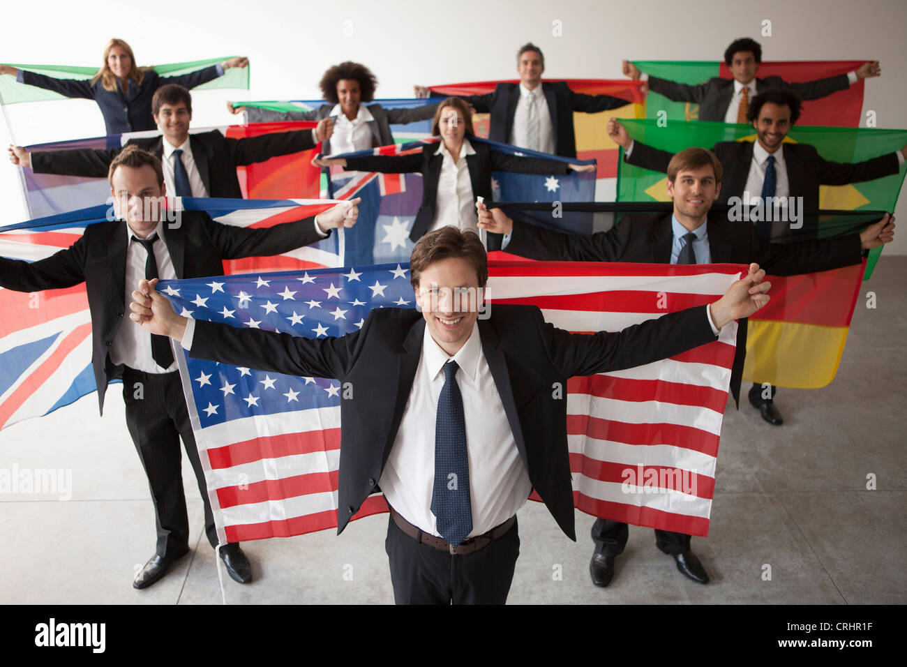 Nations vie for shares of global business - Stock Image