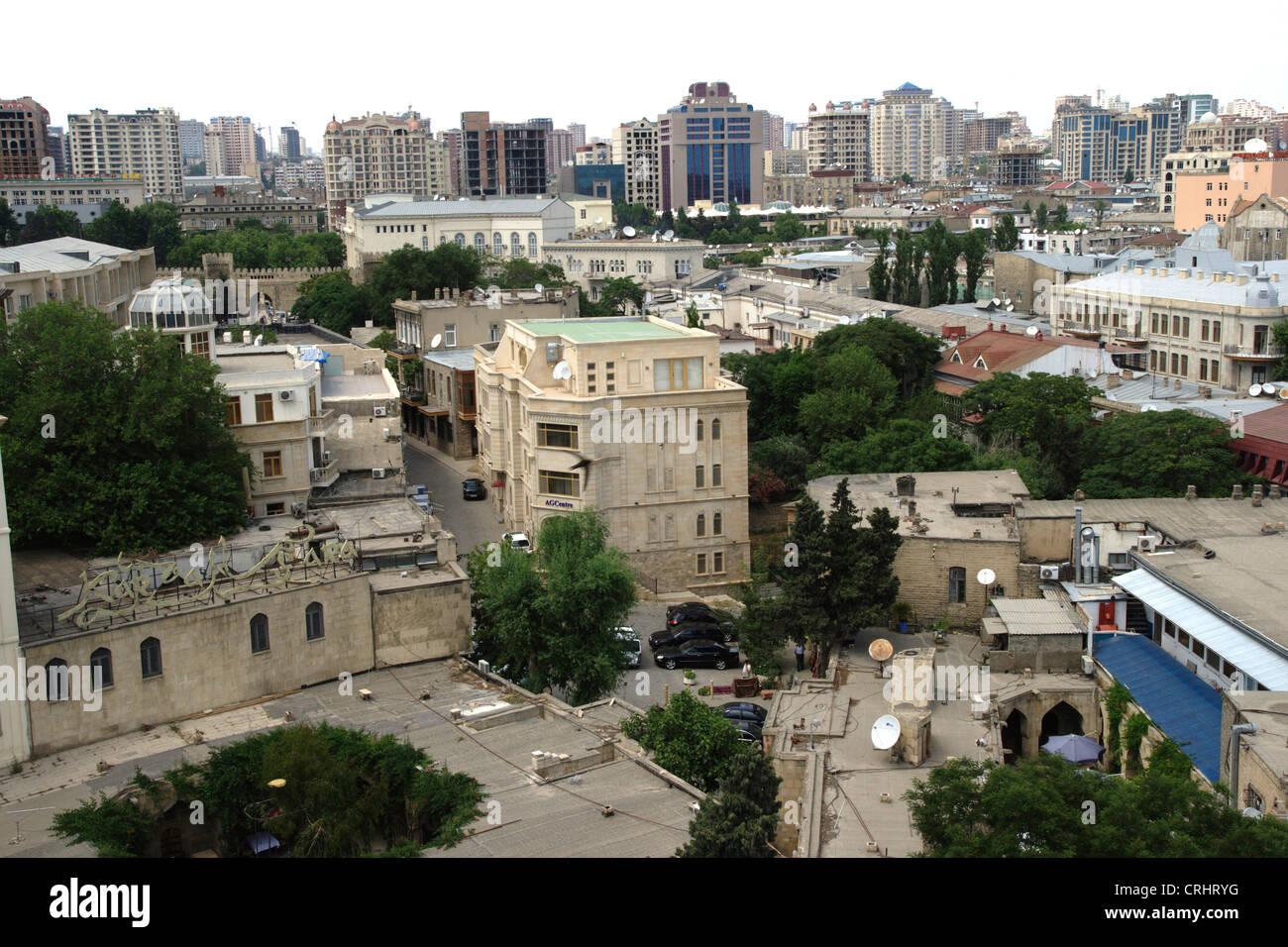 Baku, view on city, Azerbaijan, Baku Stock Photo
