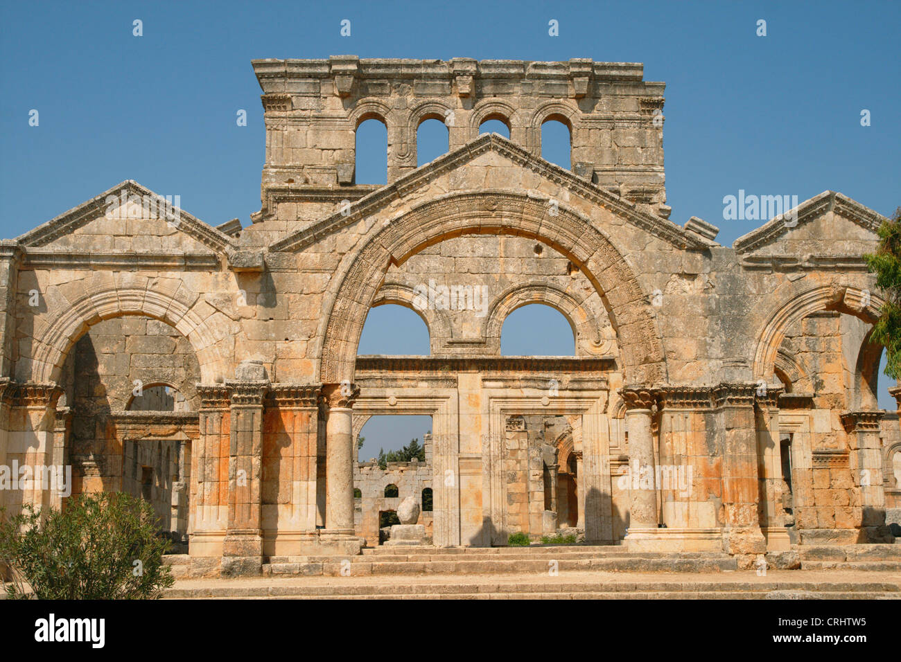 St. Simeon basilica, Syria, Qala'at Samaan Stock Photo
