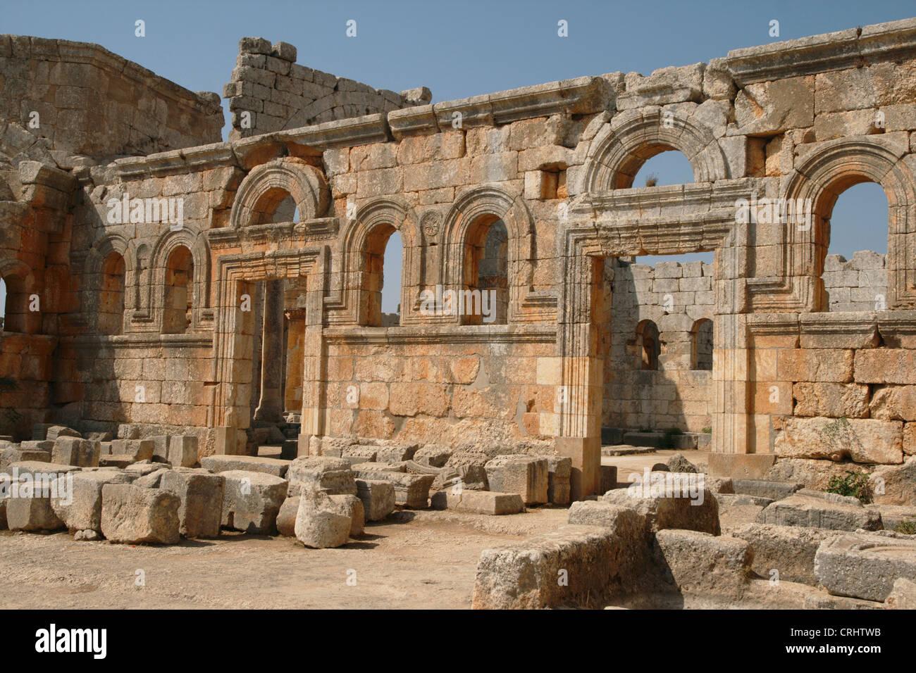 St. Simeon basilica, Syria, Qala'at Samaan - Stock Image