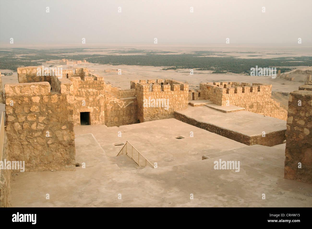 Arab castle, Qala'at Ibn Maan, Syria, Palmyra - Stock Image