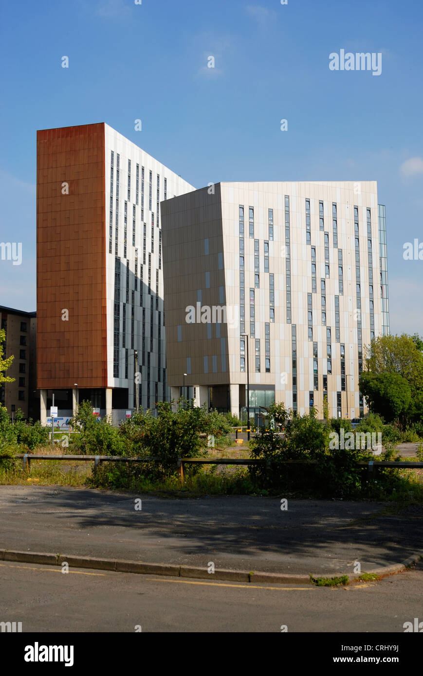 Student accommodation close to Manchester University and adjacent to Mancunian Way in Manchester city centre. - Stock Image