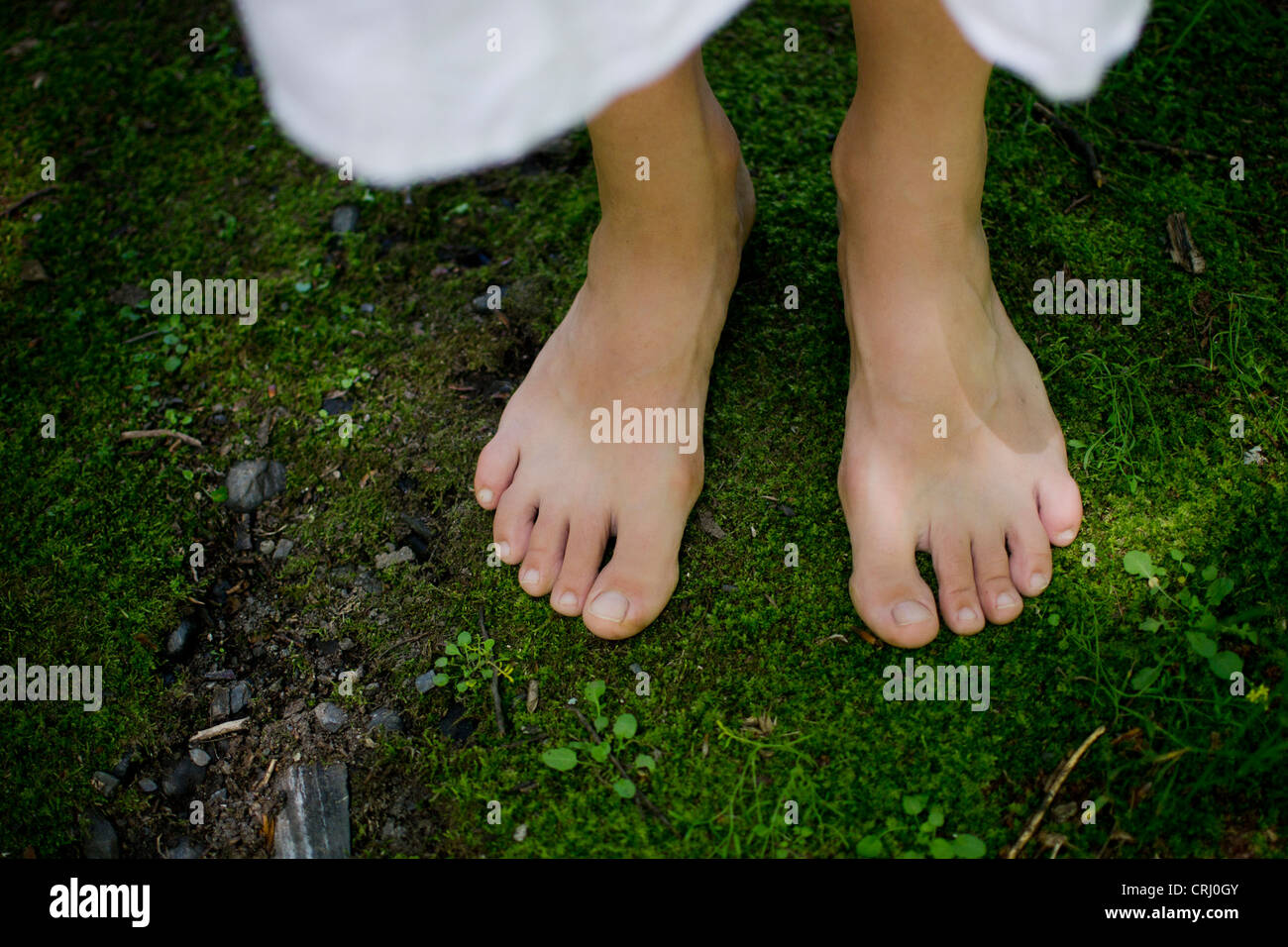 Delightful young girl model feet commit