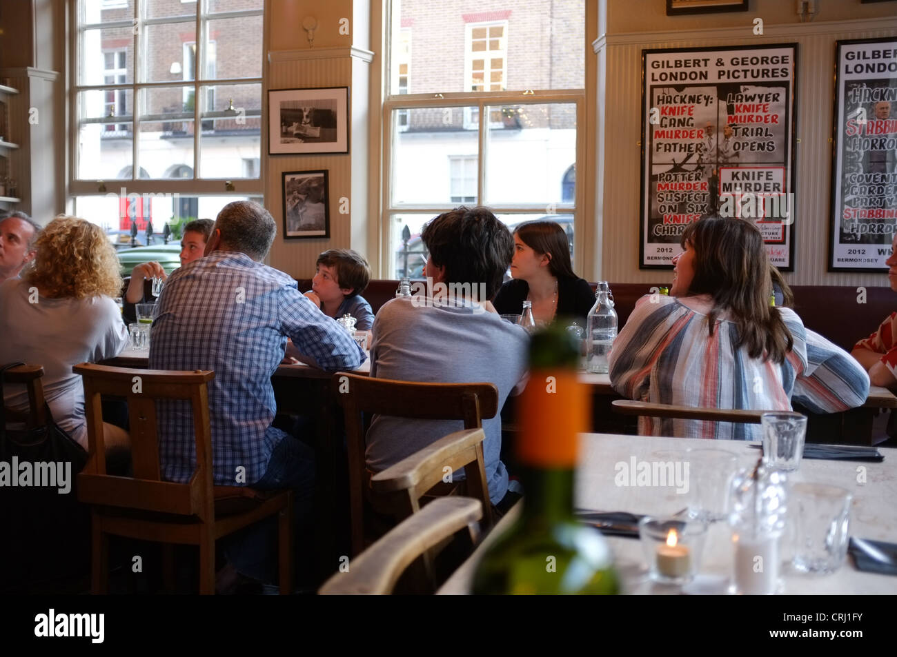 The Wellington gastropub in Crawford Street, Marylebone London W1 - Stock Image