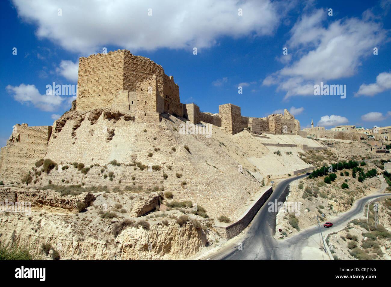 crusader castle of Karak, Jordan, Karakoram Highway Stock Photo