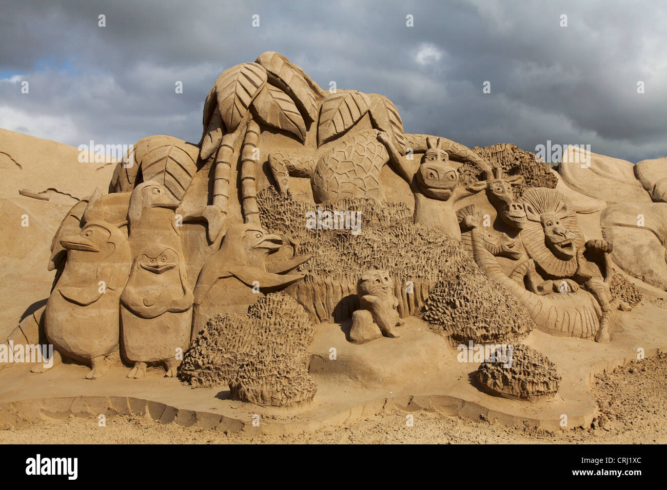 sand sculpture, Netherlands, Texel - Stock Image