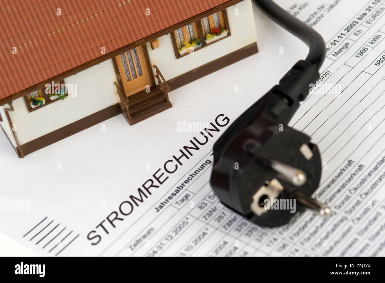 symbolic for energy consumption costs - Stock Image