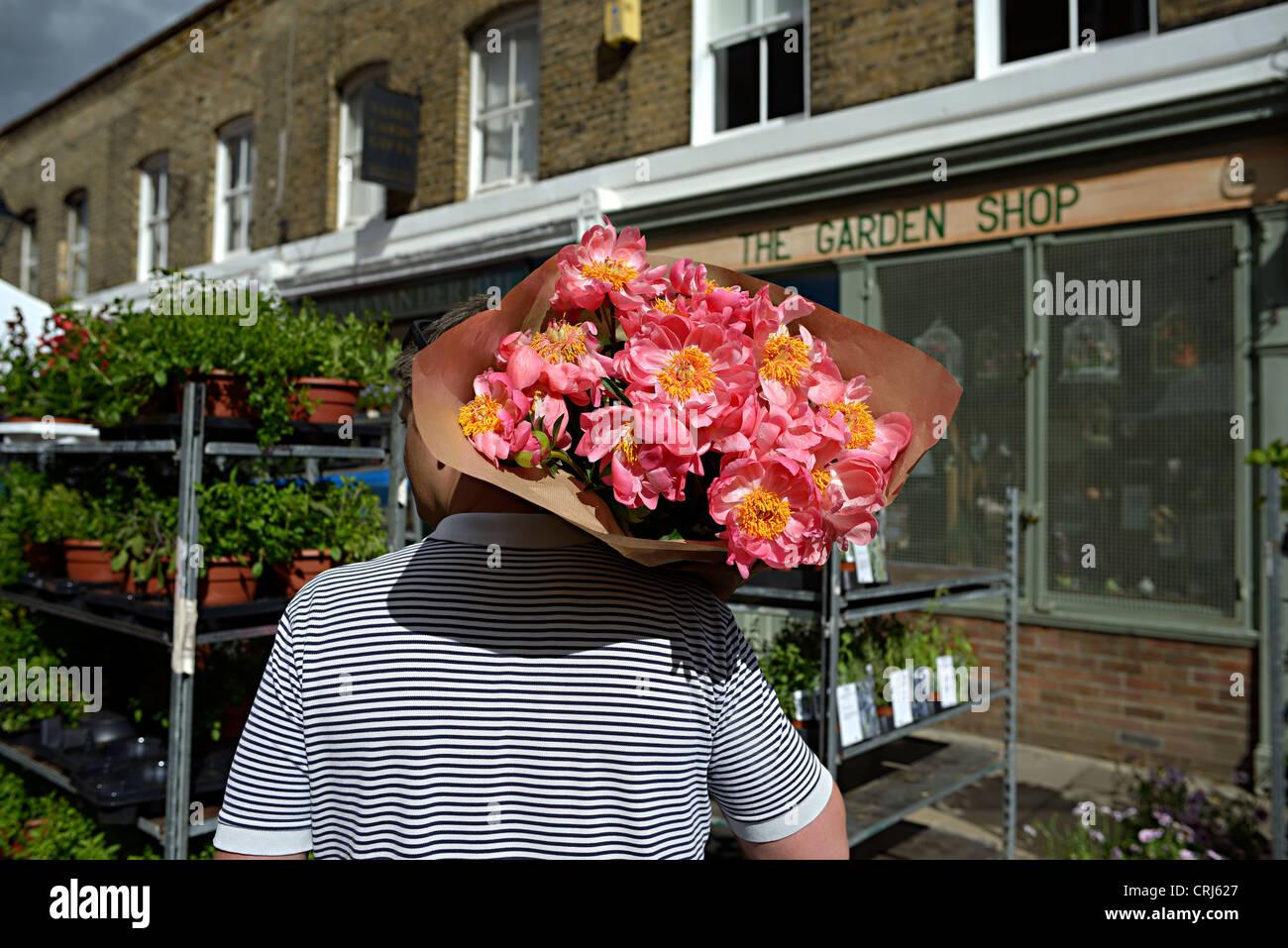 columbia road flower market london - Stock Image