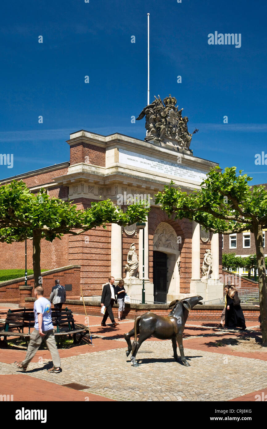 Berliner Tor, Berlin gate, in Wesel in Lower Rhine region, Niederrhein, Germany, North Rhine-Westphalia, Ruhr Area, Stock Photo