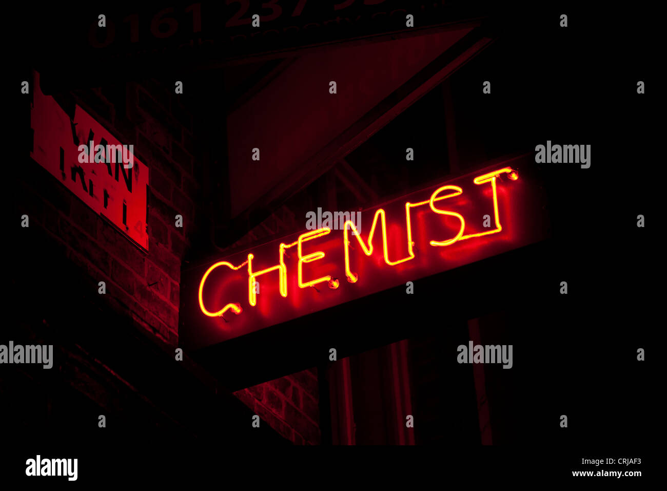 Neon Chemist sign - Stock Image
