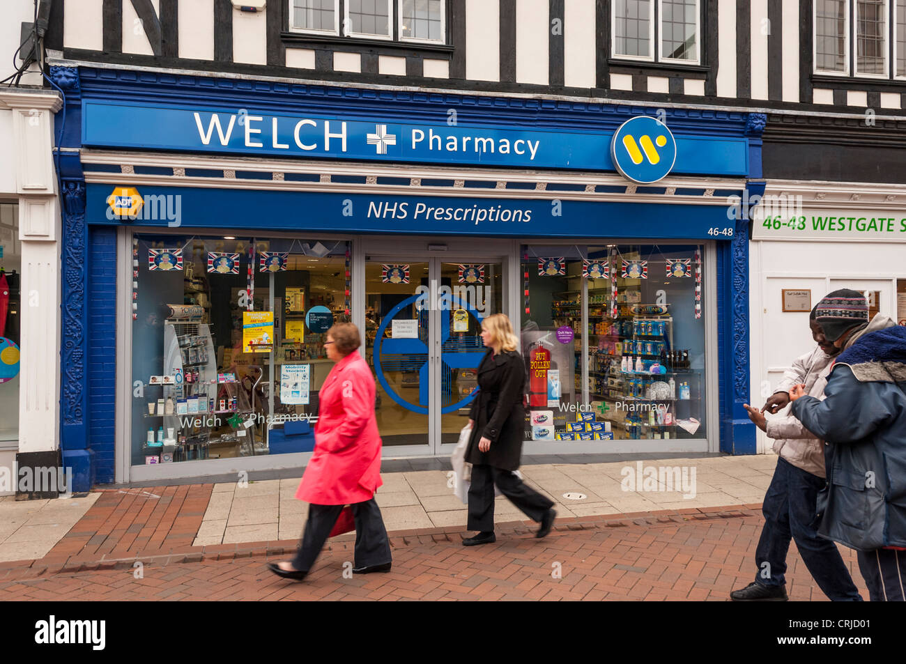 The Welch Pharmacy chemist shop store in Ipswich , Suffolk , England , Britain , Uk - Stock Image