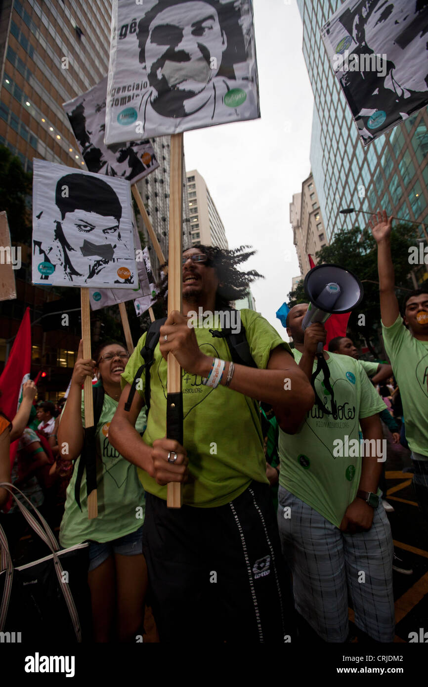 People's Summit at Rio+20 for Social and Environmental Justice Global day of mobilization - Stock Image