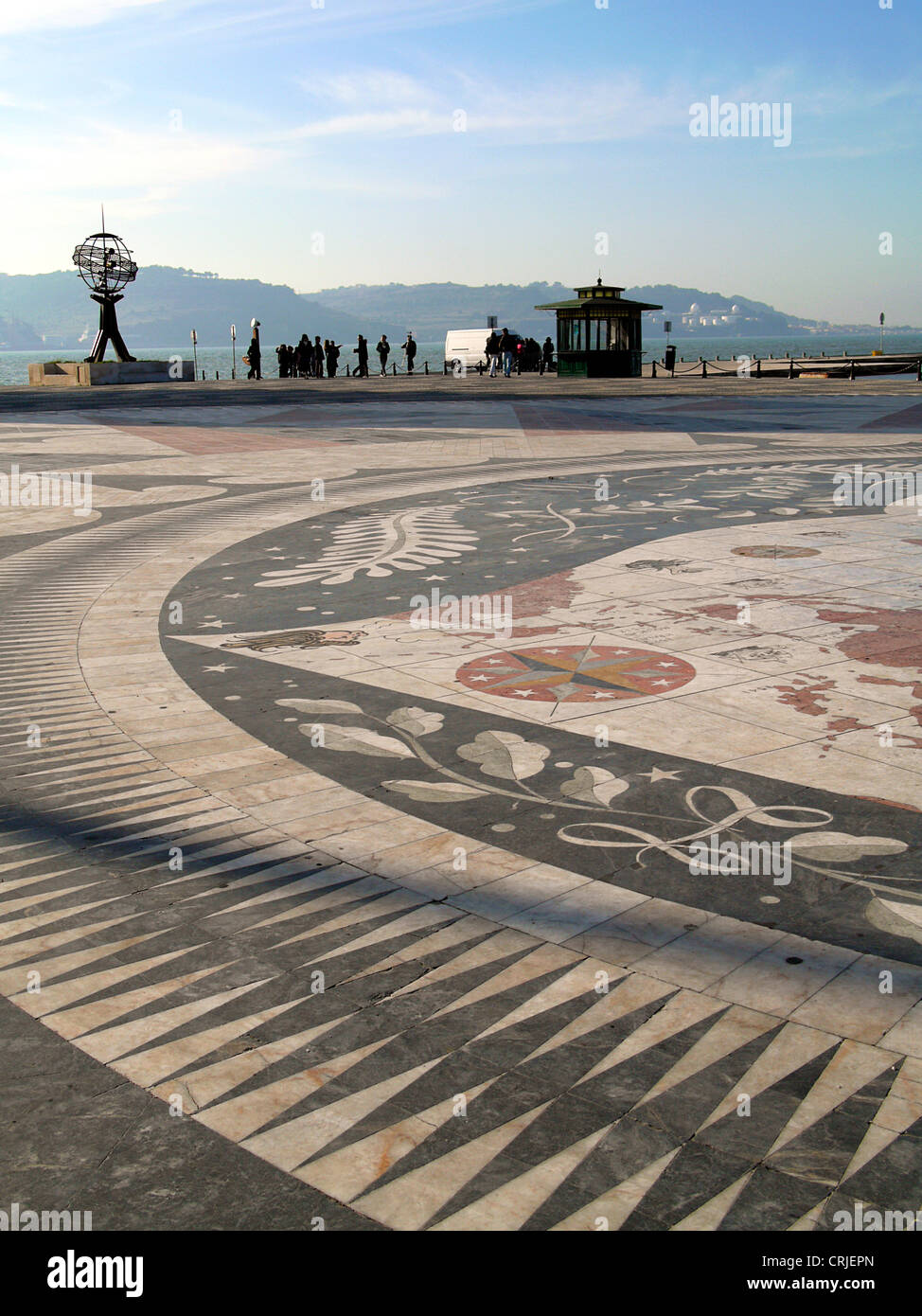 memorial place in Bel�m for the famous explorers who set off on their voyages of discovery from here, Portugal, - Stock Image