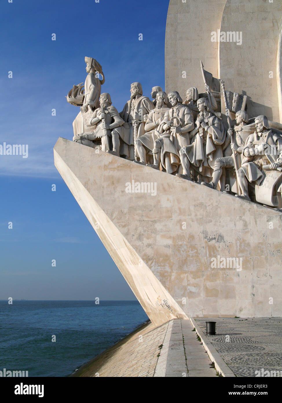 Explorer's Memorial, B�lem, Portugal, Lisbon - Stock Image