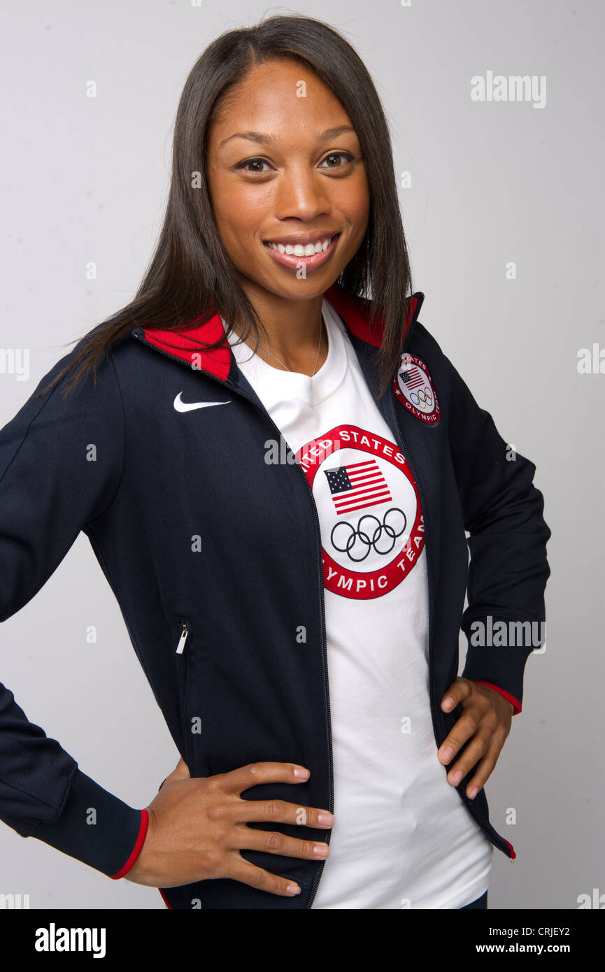 Sprinter Allyson Felix at the Team USA Media Summit in Dallas, TX in advance of the 2012 London Olympics. - Stock Image