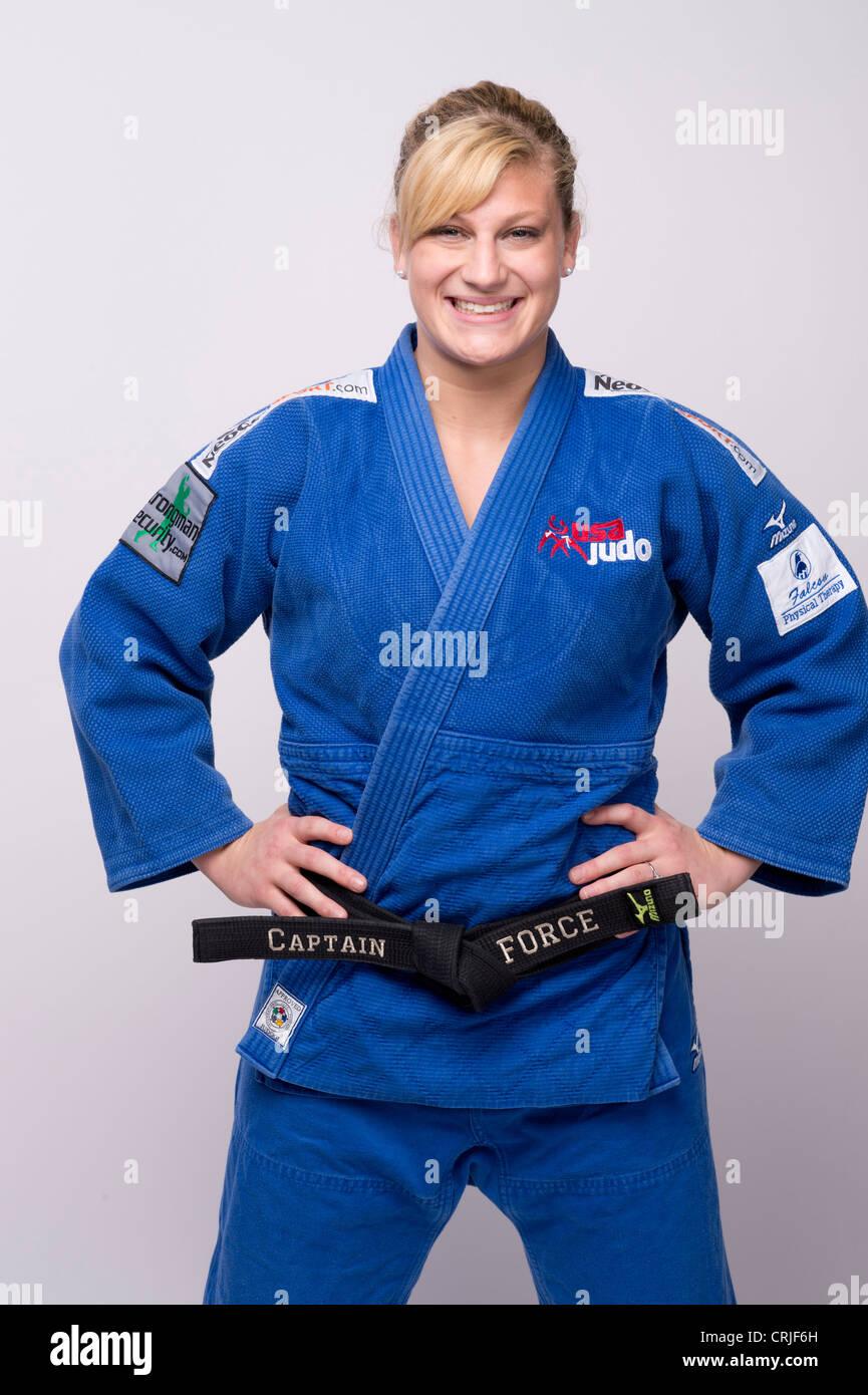 Team USA judo player Kayla Harrison at the Team USA Media
