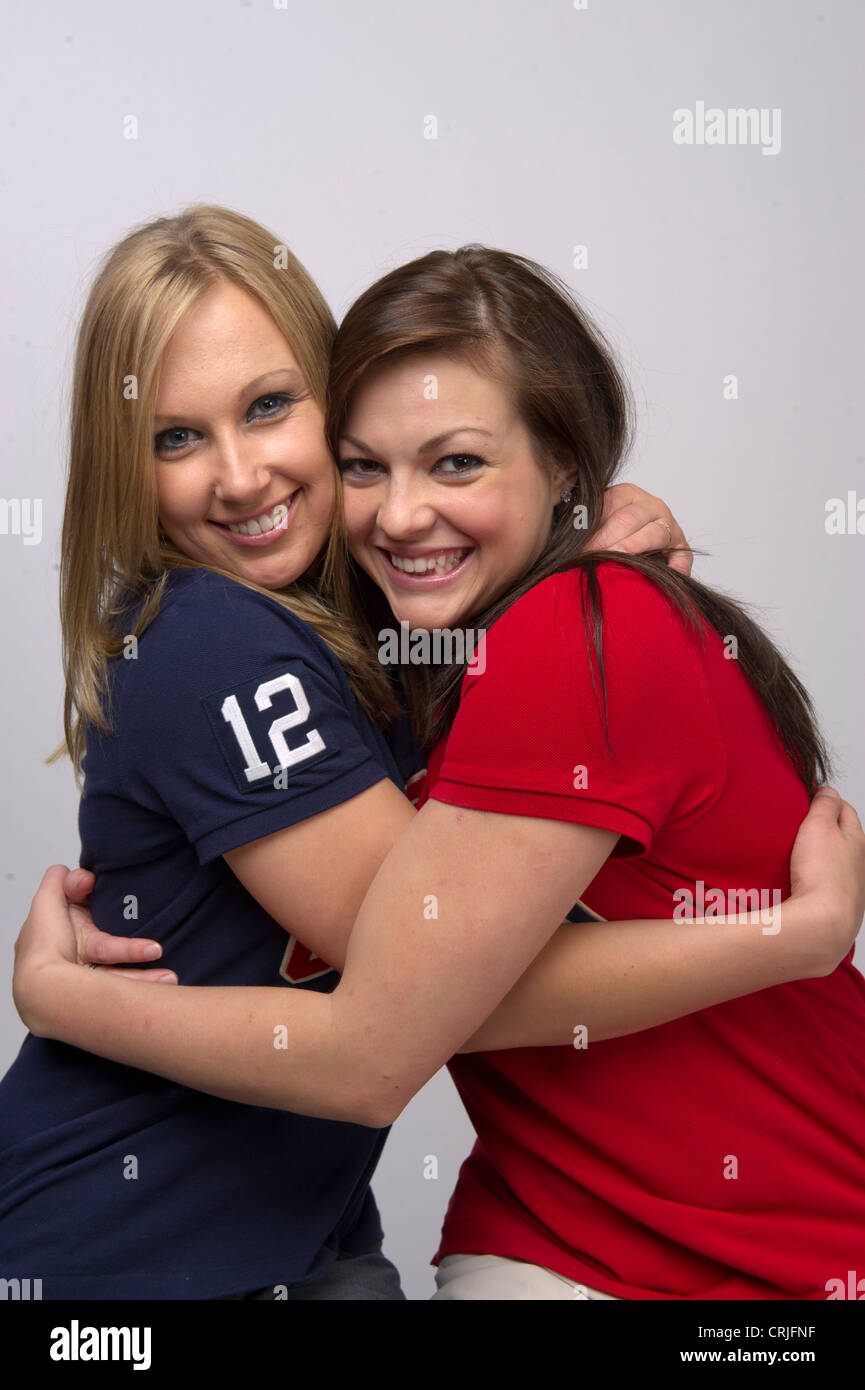 American synchronized swimming duet partners Mariya Koroleva and Mary Killman at the Team USA Media Summit - Stock Image