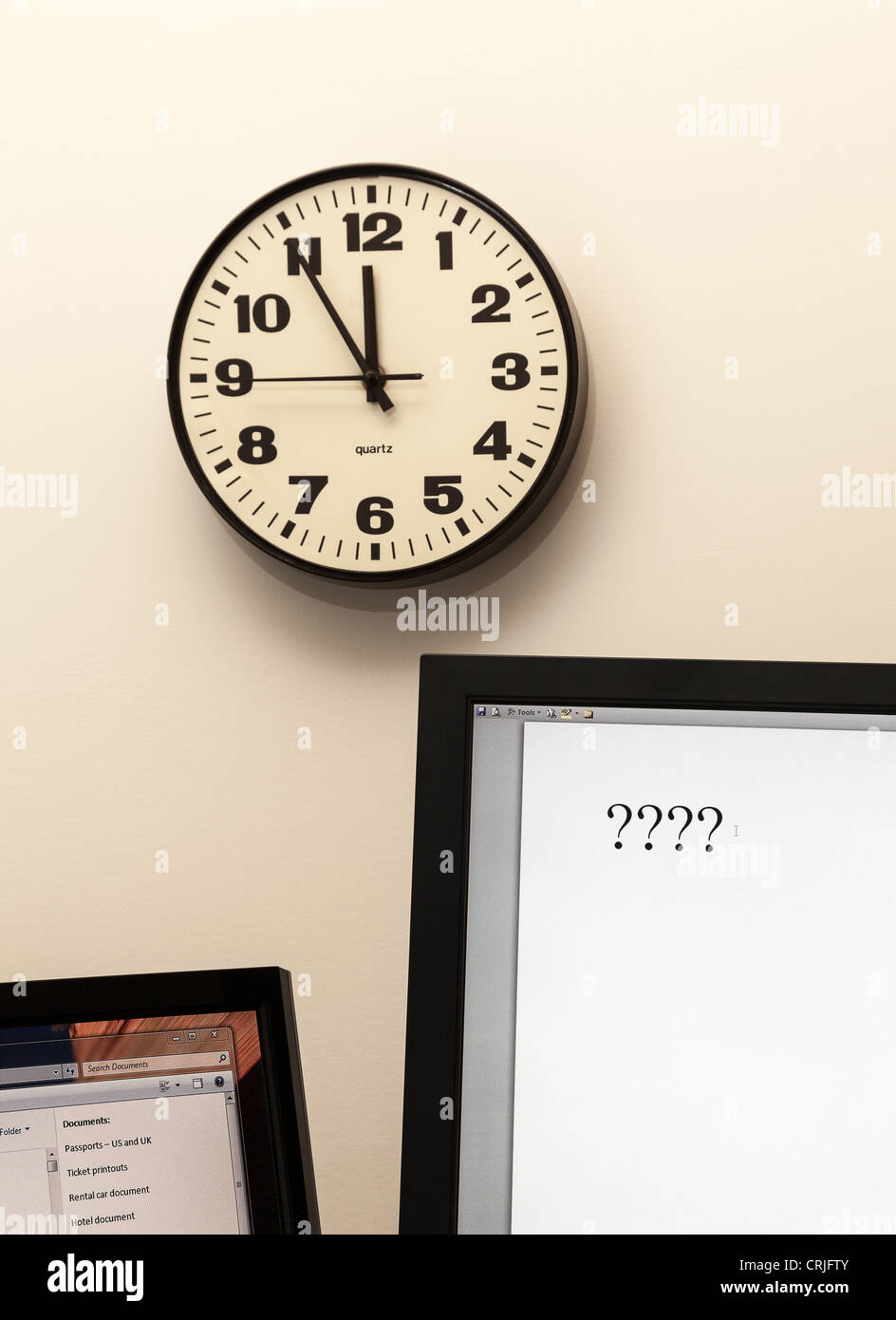 Deadline concept, urgent decision making - Stock Image