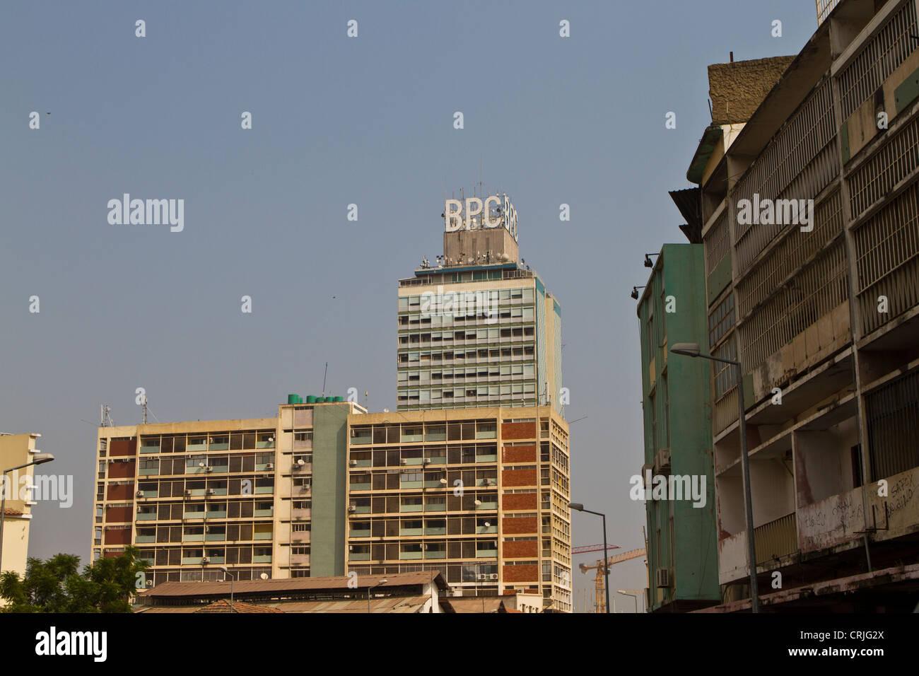 Buildings in Luanda Angola - Stock Image