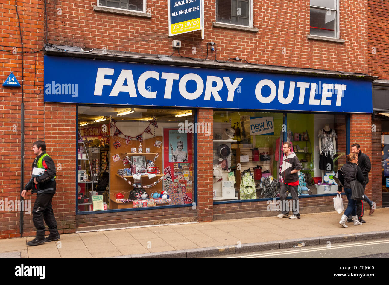 5948ef9d530 The Factory Outlet shop store in Ipswich , Suffolk , England Stock ...