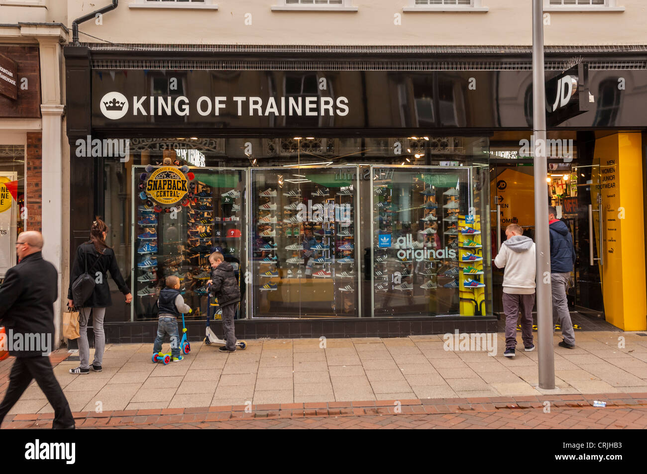 The King of Trainers training shoe shop